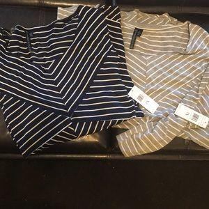 NWT 2 3x striped blouses